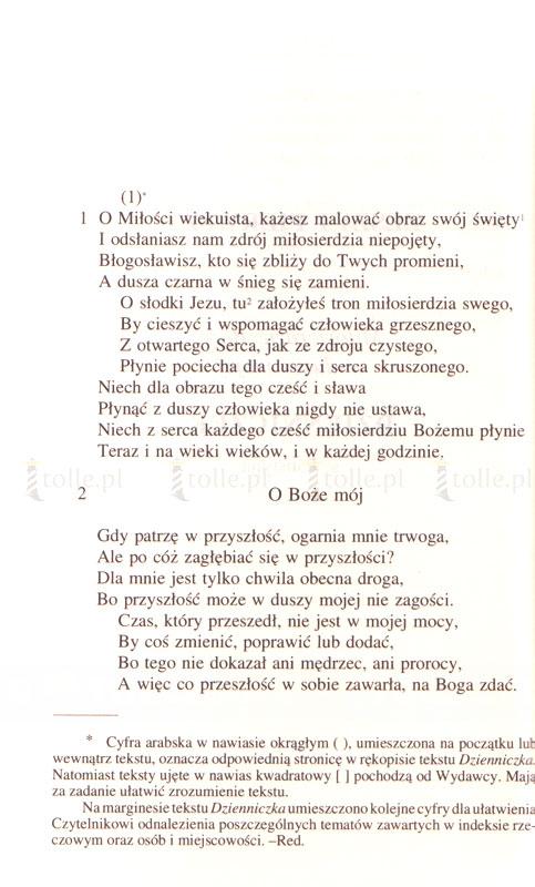 Dzienniczek. Miłosierdzie Boże w duszy mojej [mały format, twarda oprawa ze złoceniami] - Klub Książki Tolle.pl