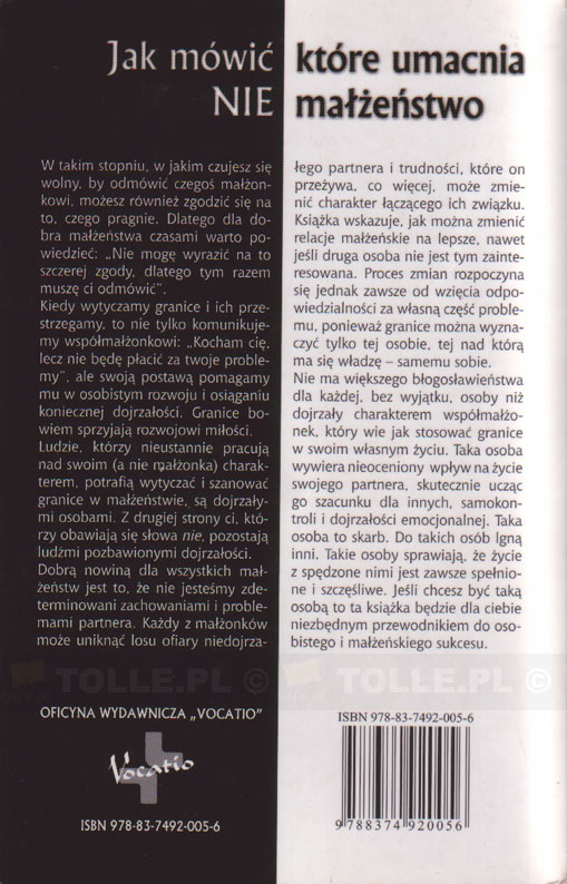 Granice w relacjach małżeńskich - Klub Książki Tolle.pl