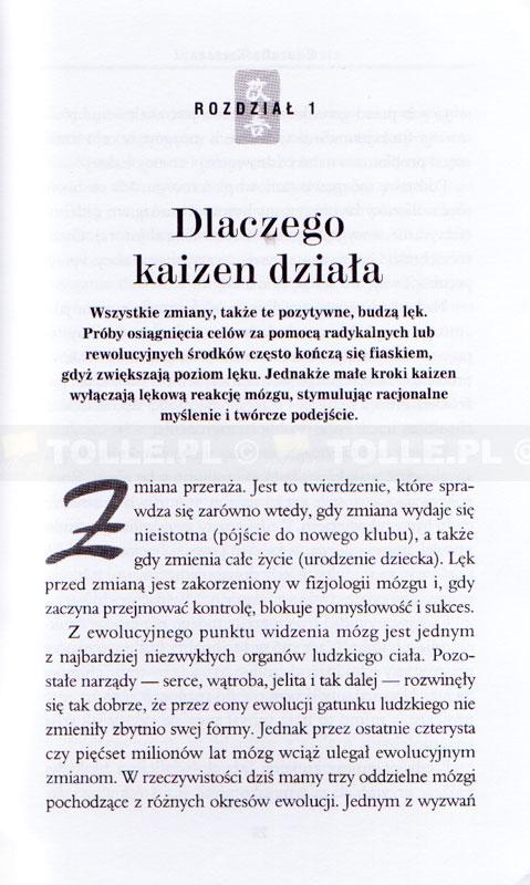 Filozofia Kaizen. Jak mały krok może zmienić Twoje życie [miękka oprawa] - Klub Książki Tolle.pl