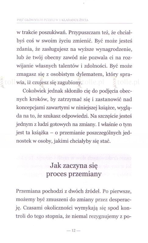 Pięć głównych puzzli w układance życia - Klub Książki Tolle.pl