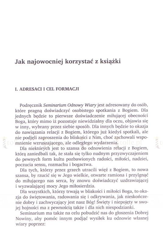 Seminarium odnowy wiary. Podręcznik formacyjny - Klub Książki Tolle.pl