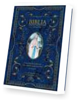 Biblia domowa z obwolutą Matka Boska z Lourdes