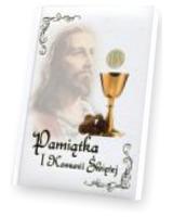 Pamiątka I Komunii Świętej biała