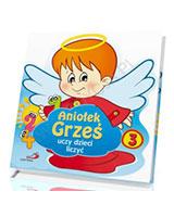Aniołek Grześ uczy dzieci liczyć