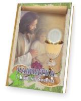 Pamiątka I Komunii Świętej. Pan Jezus z dzieckiem