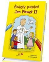 Święty papież Jan Paweł II. Kolorowanka
