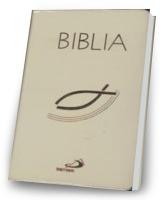 Biblia z rybką z suwakiem ecru