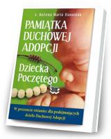 Pamiątka Duchowej Adopcji Dziecka Poczętego (+ różaniec)