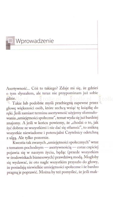 Asertywność. Jak docenić samego siebie? - Klub Książki Tolle.pl