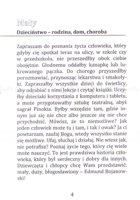 Mały, duży, błogosławiony – Edmund Bojanowski - Klub Książki Tolle.pl