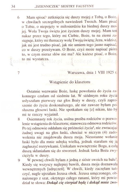 Dzienniczek. Miłosierdzie Boże w duszy mojej - Klub Książki Tolle.pl