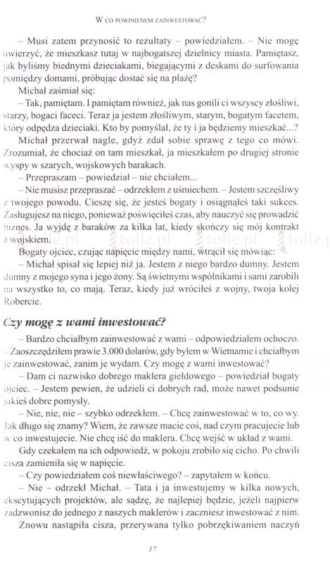 Inwestycyjny poradnik bogatego ojca - Klub Książki Tolle.pl