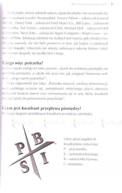 Kwadrant przepływu pieniędzy - Klub Książki Tolle.pl