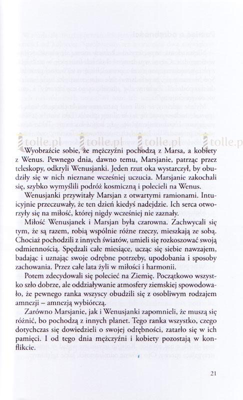 Mężczyźni są z Marsa, kobiety z Wenus - Klub Książki Tolle.pl