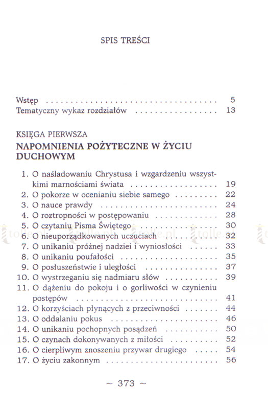 O naśladowaniu Chrystusa - Klub Książki Tolle.pl