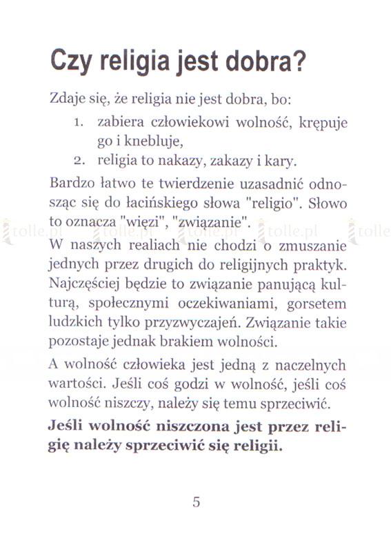 Religia - wolność czy zniewolenie? - Klub Książki Tolle.pl