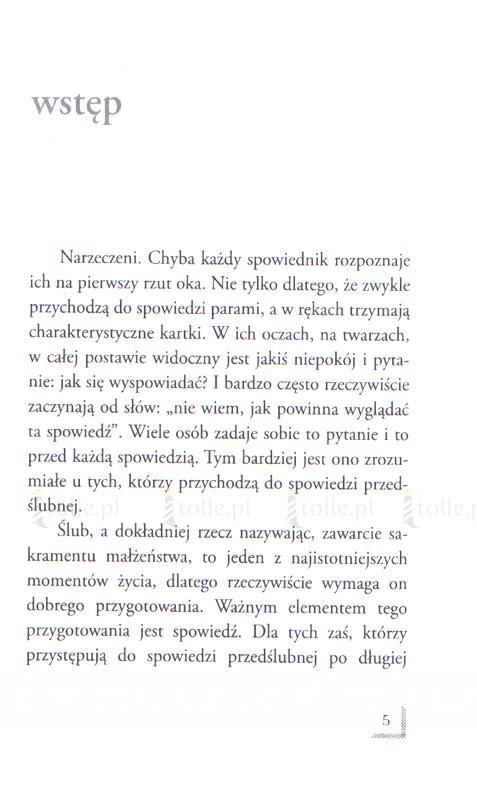 Spowiedź przedślubna - Klub Książki Tolle.pl