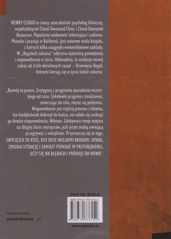 Reguły sukcesu. Seria: Psychologia i wiara - Klub Książki Tolle.pl