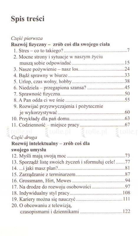Sztuka zarządzania samym sobą - czyli jak sprawić by stres pracował dla ciebie - Klub Książki Tolle.pl