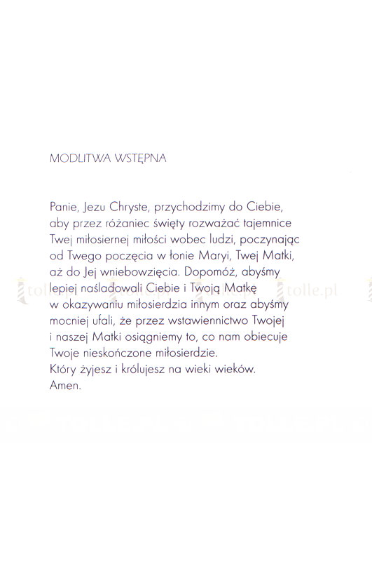 Różaniec ze świętą Siostrą Faustyną - Klub Książki Tolle.pl